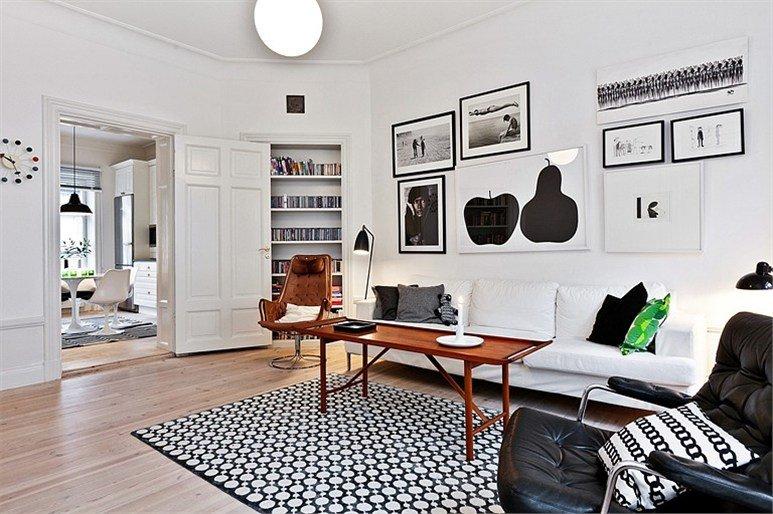 Design scandinavo: bianco e nero smorzati ed esaltati da pezzi in ...