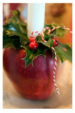 un portacandela al sapore di mela :-)