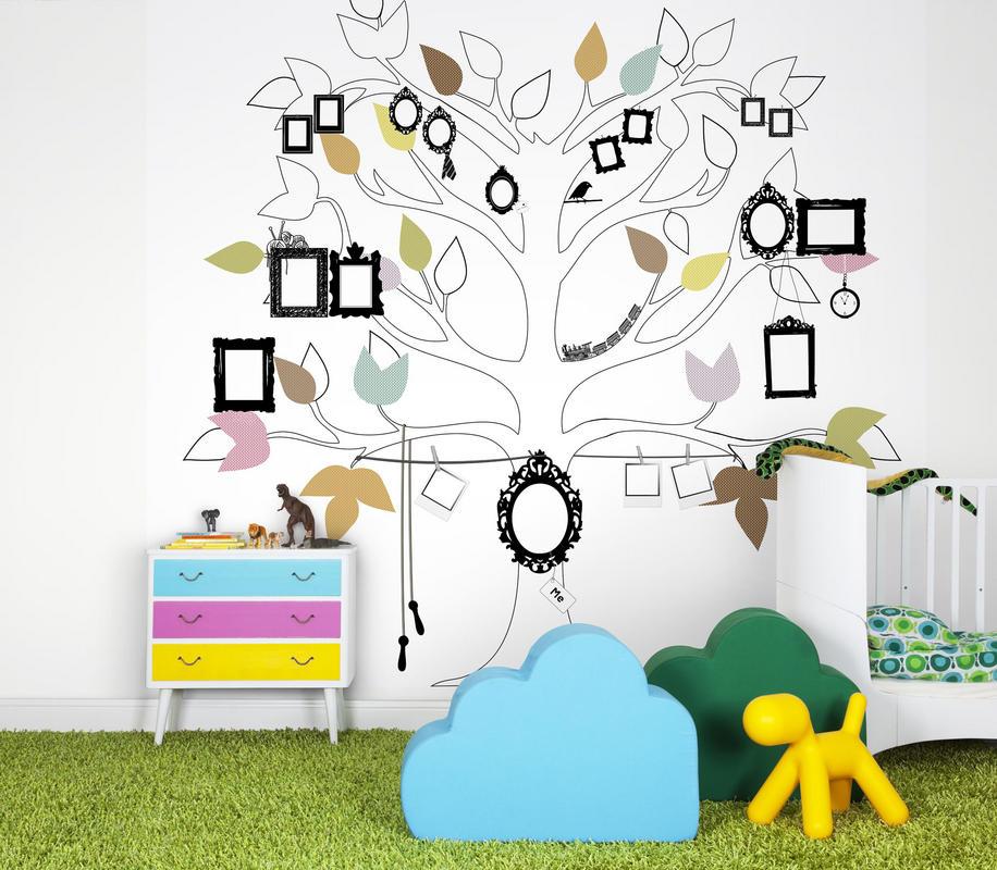 Un albero genealogico per la camera dei bimbi..io da piccola ci avrei appeso tutte le foto della mia famiglia di peluche..