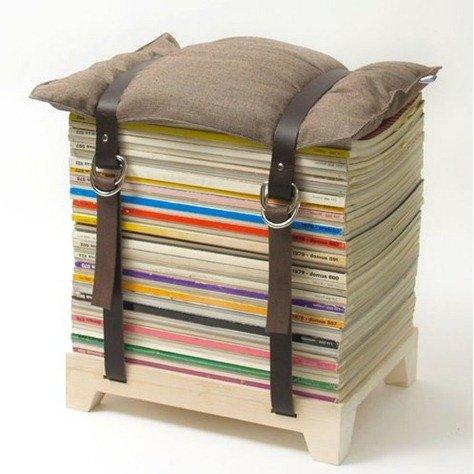 ..possono anche trasformarle in stabili sedute, basta aggiungere un cuscino e una base in legno.