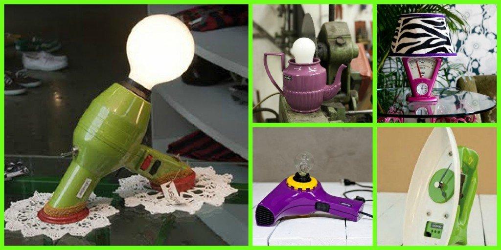 ..phon e teire lampade da tavolo..