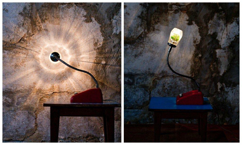 Table Lamp Upcycled Vintage Sugar Dispenser Lamp
