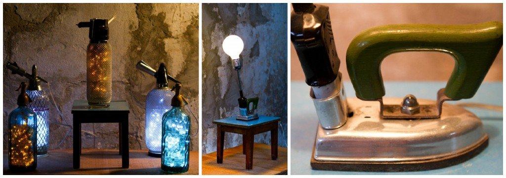 Vintage MCM Soda Syphon Wire Mesh Seltzer lamp- Uncle Felix