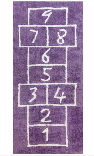 Un tappeto per giocare a campana...e tanti altri articoli pensati per i bambini.