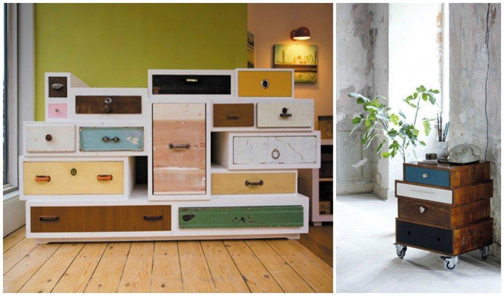 Potete anche realizzare altre cassettiere usando cassetti diversi per tipo e dimensione.