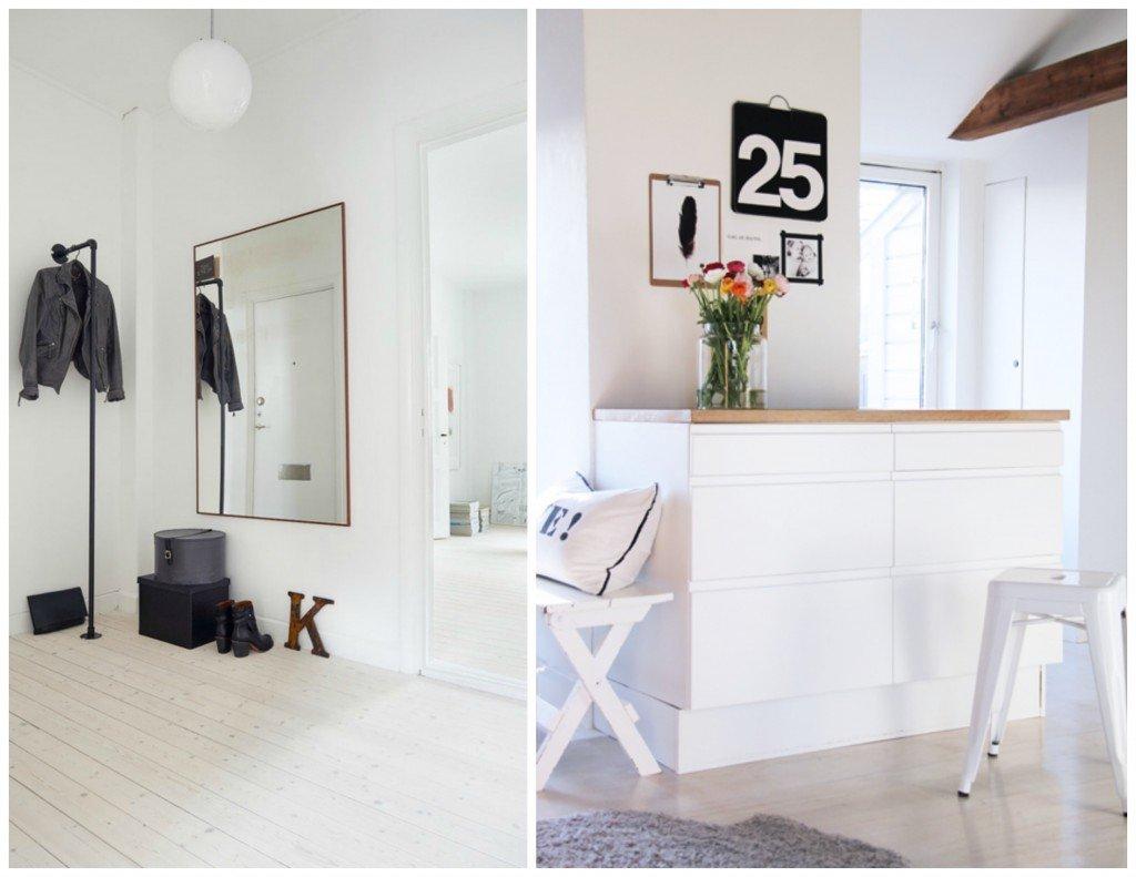 Ispirazioni scandinave a casa di ro - Specchio grande ...