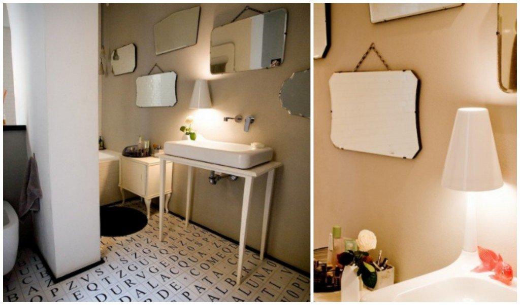 Bagno Con Vasca E Doccia Rivestito Stile Retro Interior Design : Shabby a casa di ro