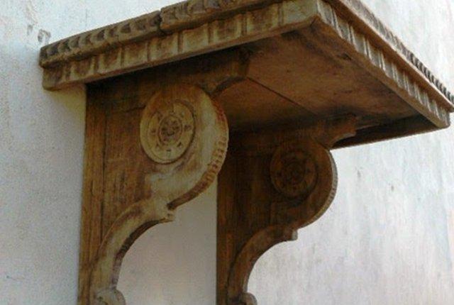 mensola vintage legno