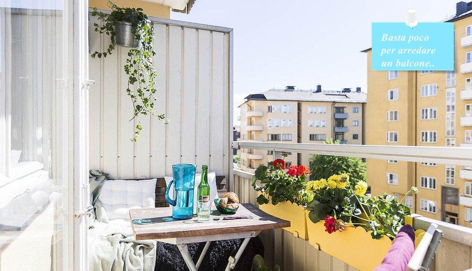 Vivere in 40 bellissimi mq a casa di ro for Arredare balconi piccoli
