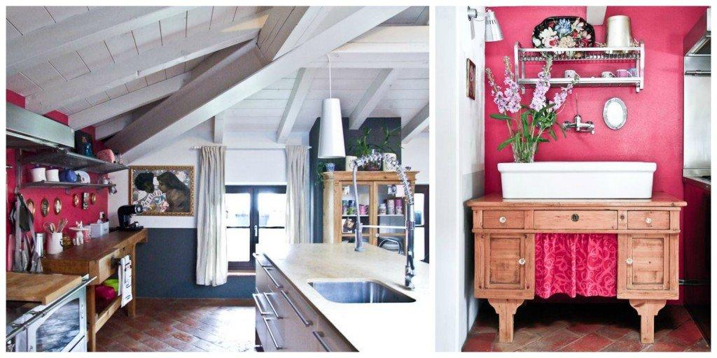 la vecchia scrivania di Milla ora ospita il lavello.