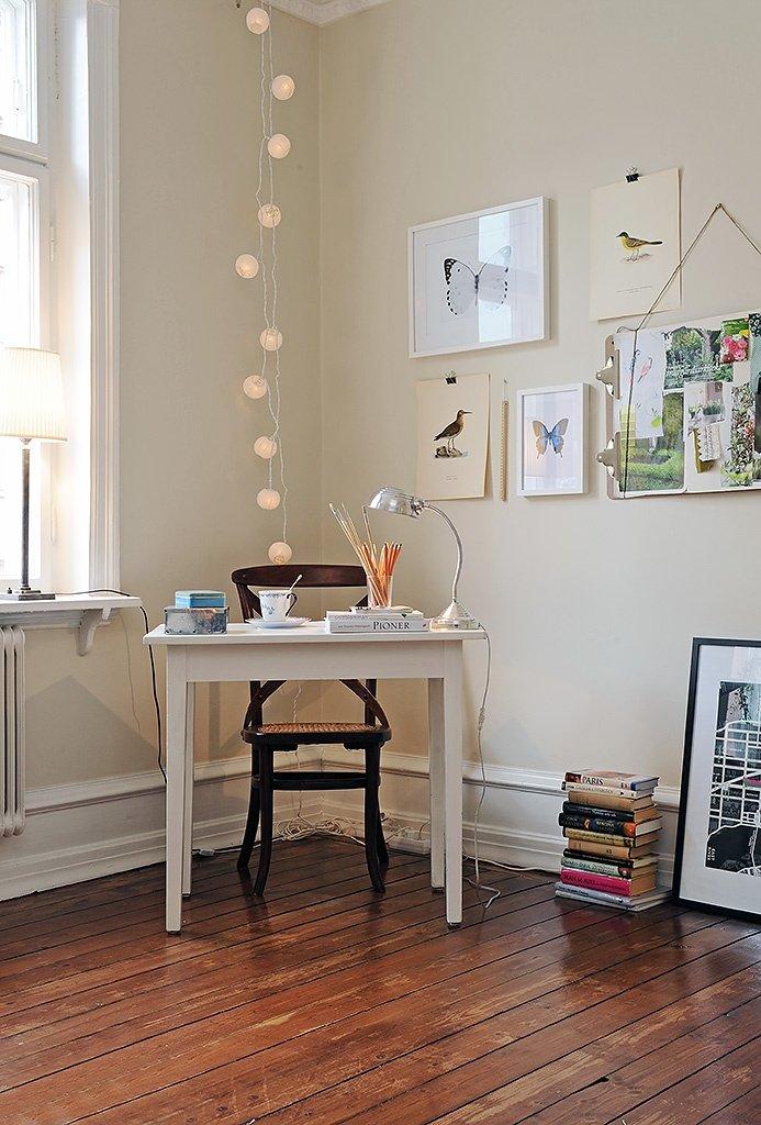 zona studio in salotto