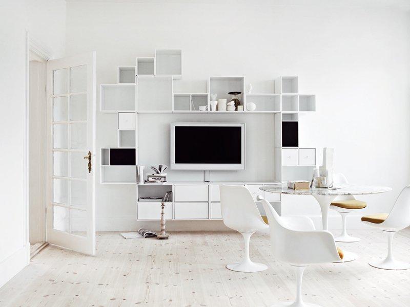 parete attrezzata tv a casa di ro