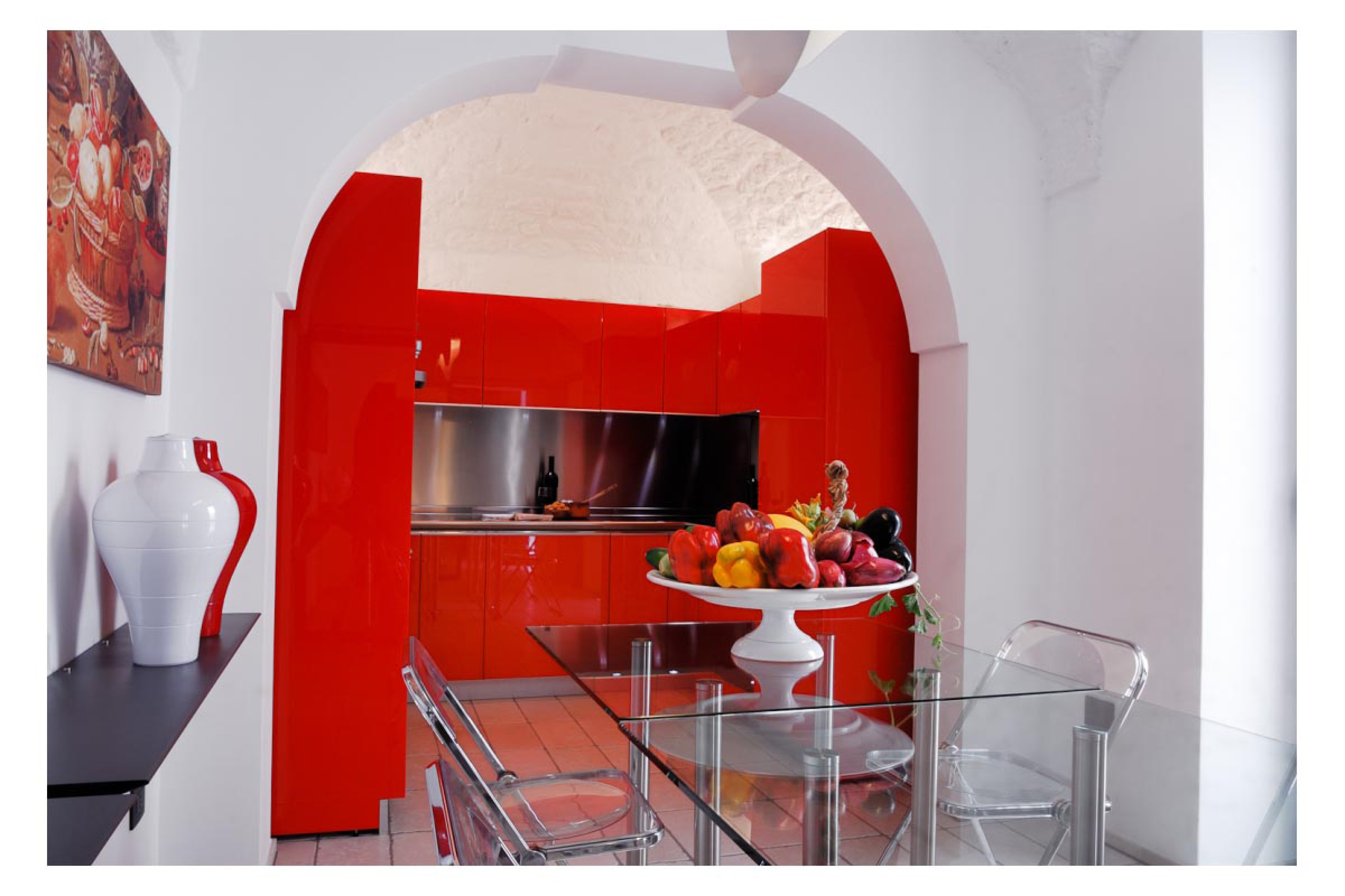 Cucina rossa with cucina rossa mercatone uno cucine moderne elegante una vivace energia nella - Camera da letto rossa e bianca ...