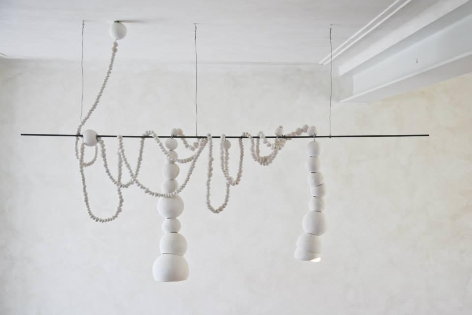 lampada sospensione argilla