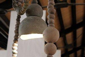 lampadario sospensione cemento