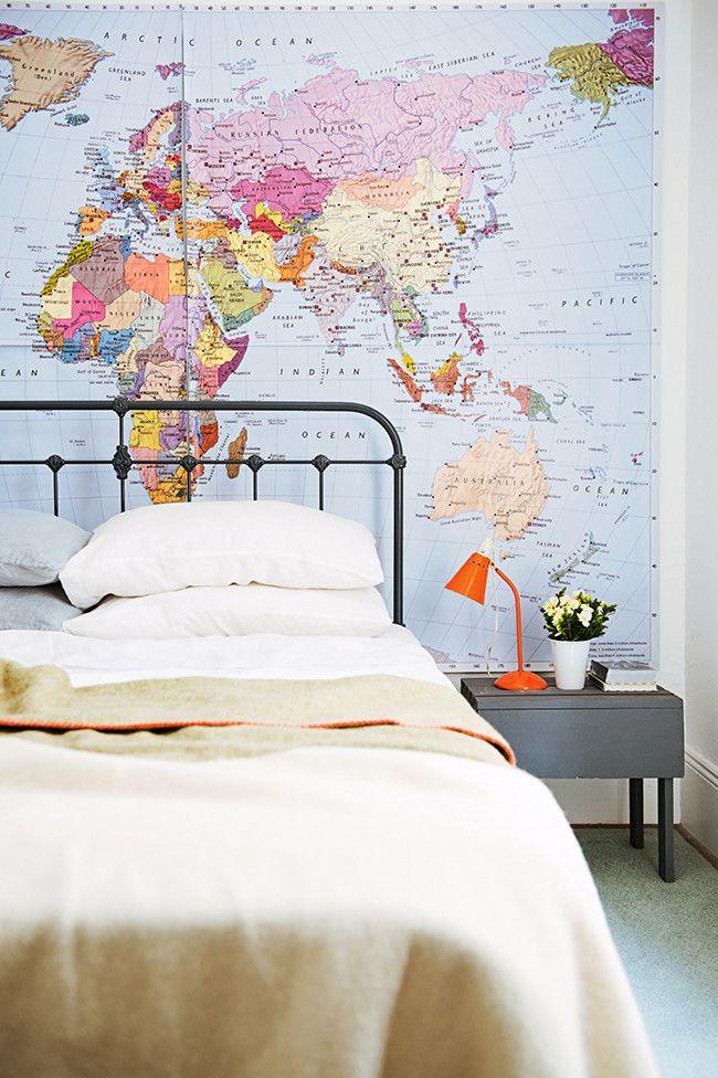 Arredare con le carte geografiche a casa di ro for Carta da parati cartina geografica