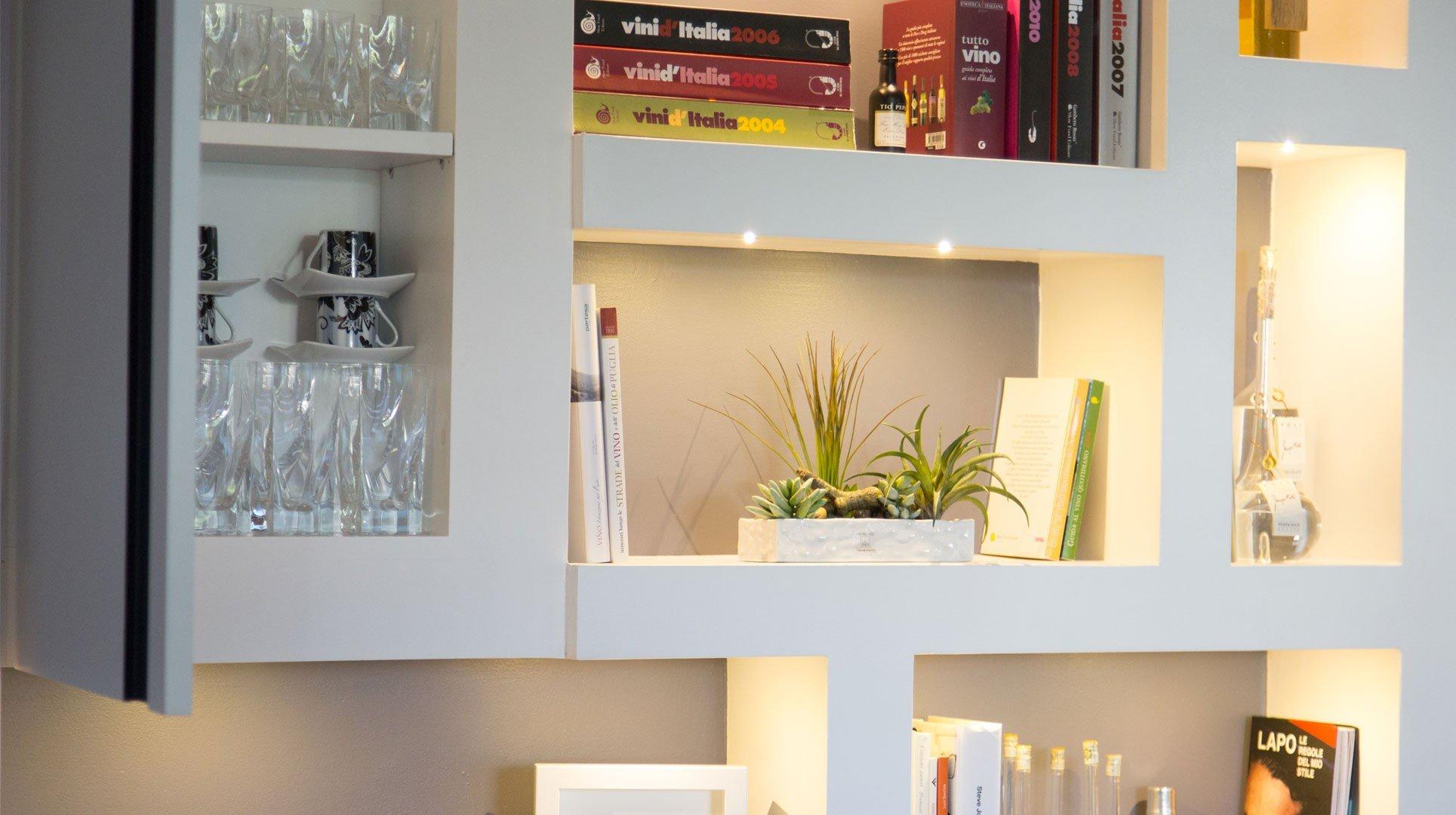 Li ving design studio a casa di ro for Pareti attrezzate in muratura