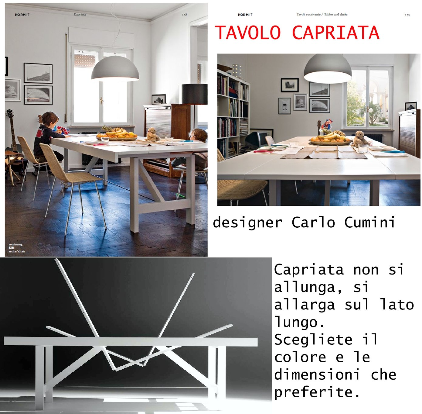 tavolo allungabile design nordico