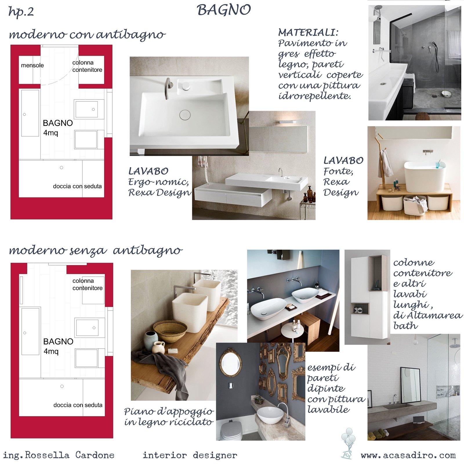 progetto di arredo..prima e dopo in 50mq - a casa di ro - Progetti Di Bagni Moderni