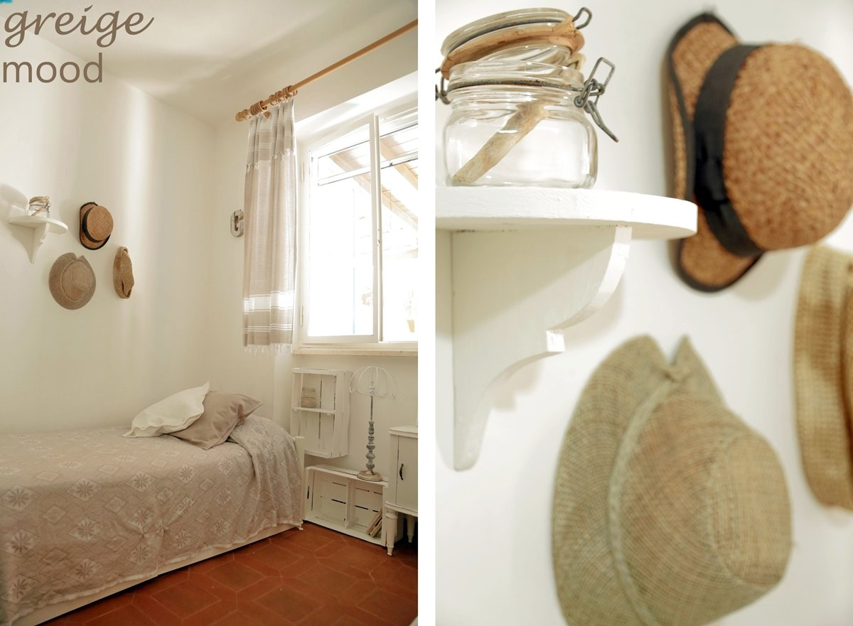 shabby greige bedroom