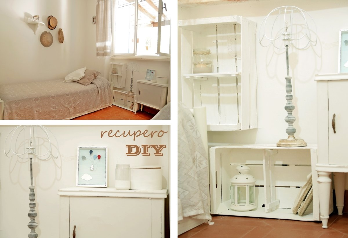 Relooking in stile shabby - Mensole comodino ...