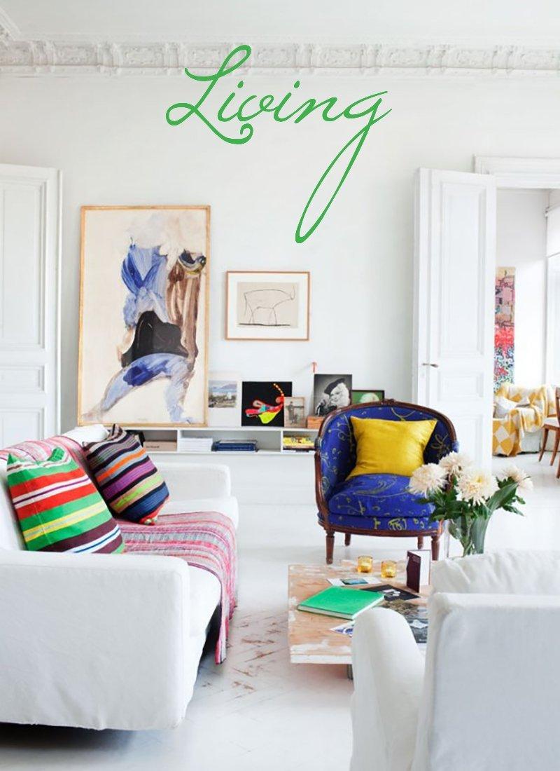 arredare il salotto colorato