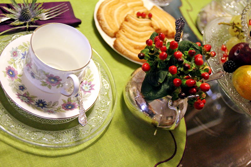 tavola verde viola