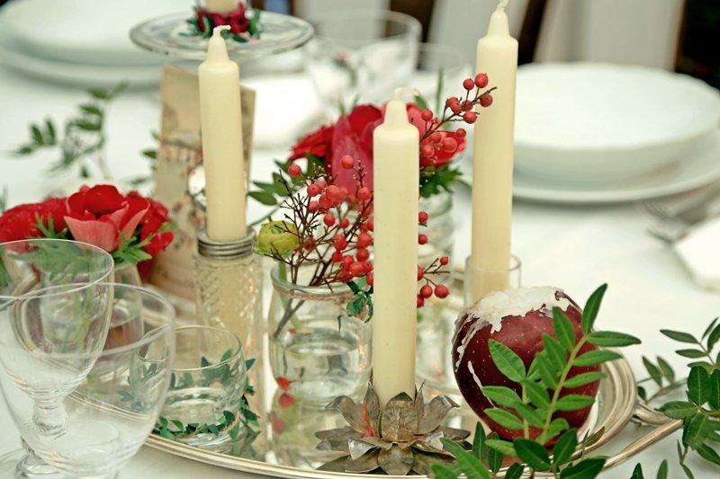 Idee per la tavola di capodanno a casa di ro for Idee per centrotavola di natale