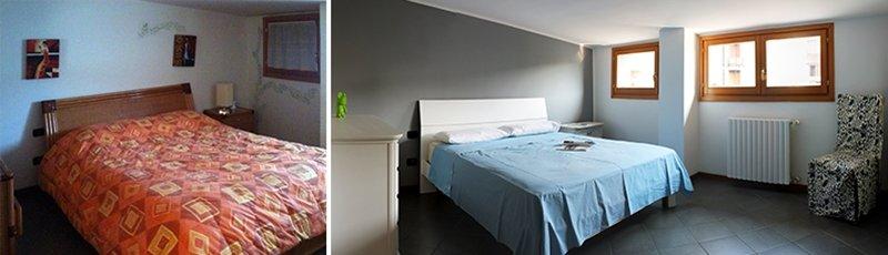 camera da letto prima e dopo