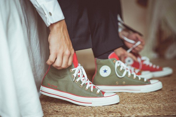 scarpe ginnastica matrimonio