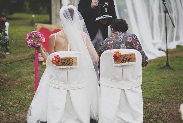 rivestimento sedie matrimonio