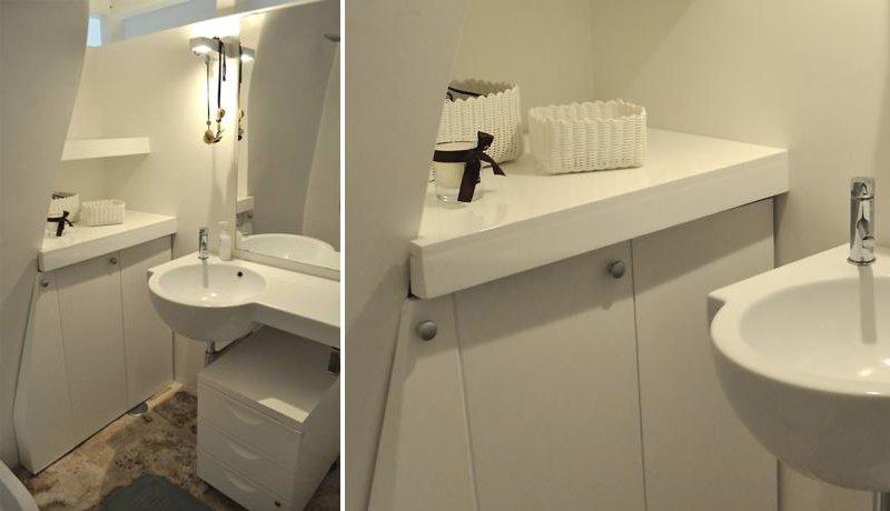 Soluzioni spazio bagno piccolo a casa di ro for Arredare bagno piccolo con lavatrice