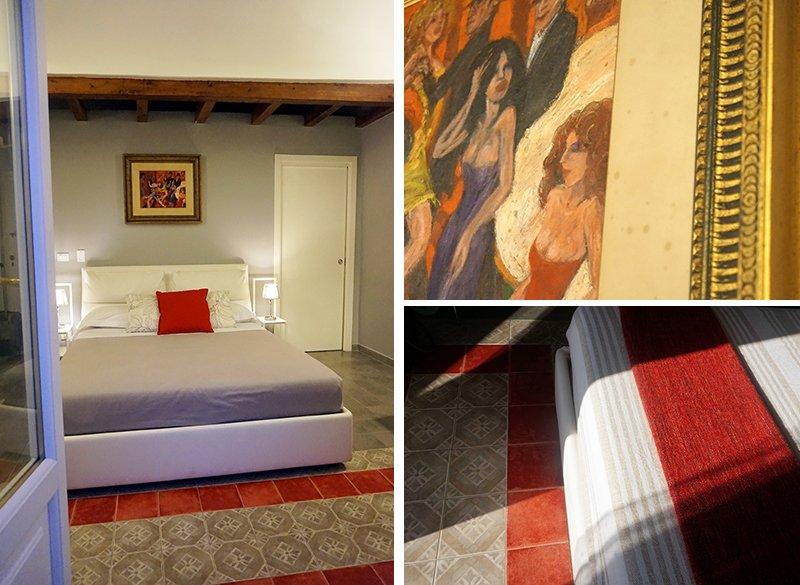 camera da letto rossa come arredare