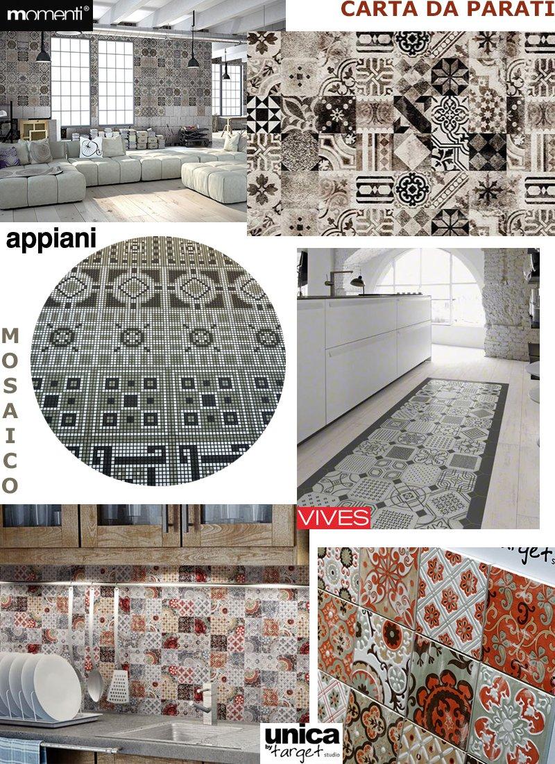 Non solo cementine a casa di ro for Tappezzeria per bagno