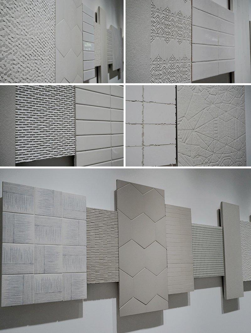 mattonelle bianche decorate
