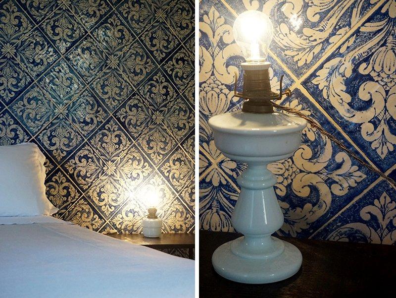 lampade smaltate vintage