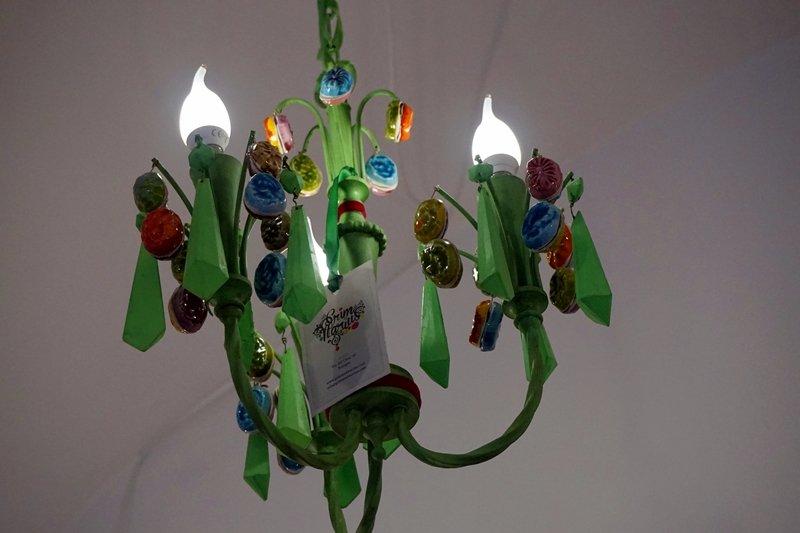 lampadario Murano colorato