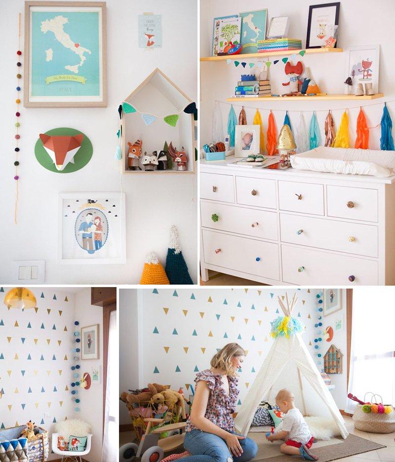Amazing idee per dipingere la cameretta dei bambini with for Idee pareti cameretta neonato