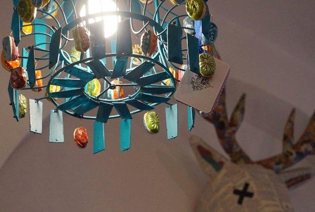lampadario colorato pendente
