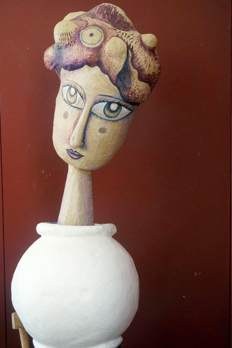 sculture carta riciclata