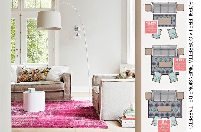 proporzioni tappeto divano