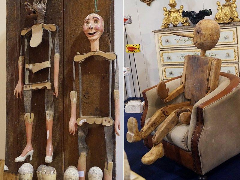marionette legno vintage