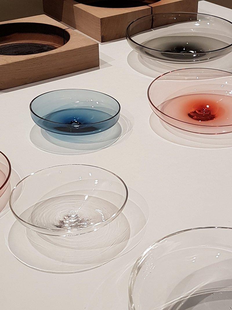 piatti vetro colorato