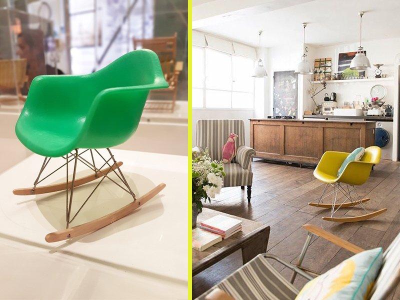 Sedia A Dondolo Rar Eames : Sedia dondolo eames a casa di ro