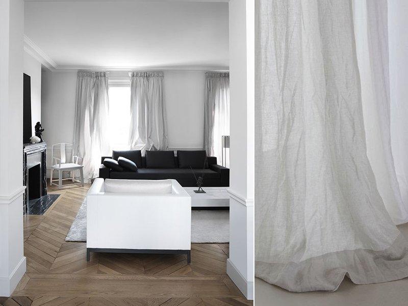 Tende Salotto Beige : Tende lino salotto a casa di ro