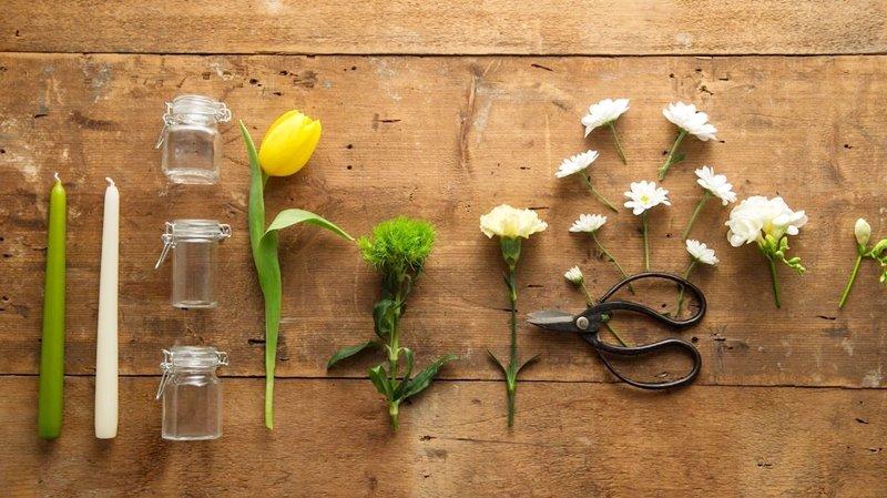 tutorial per un centrotavola al profumo d'Estate