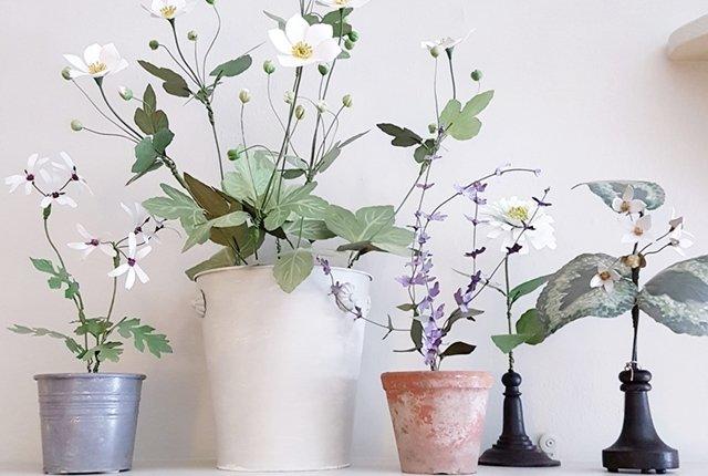 vasi fiori finti