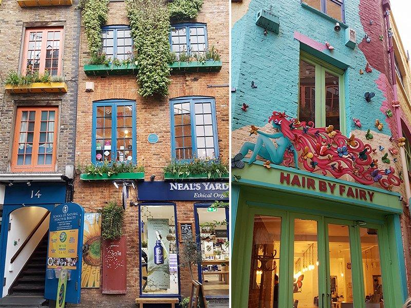 colorato vicolo Londra