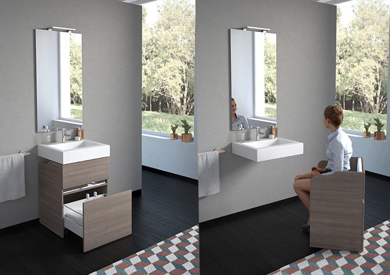 Progetto d 39 arredo di un bagno per disabili a casa di ro - Normativa bagno disabili ...