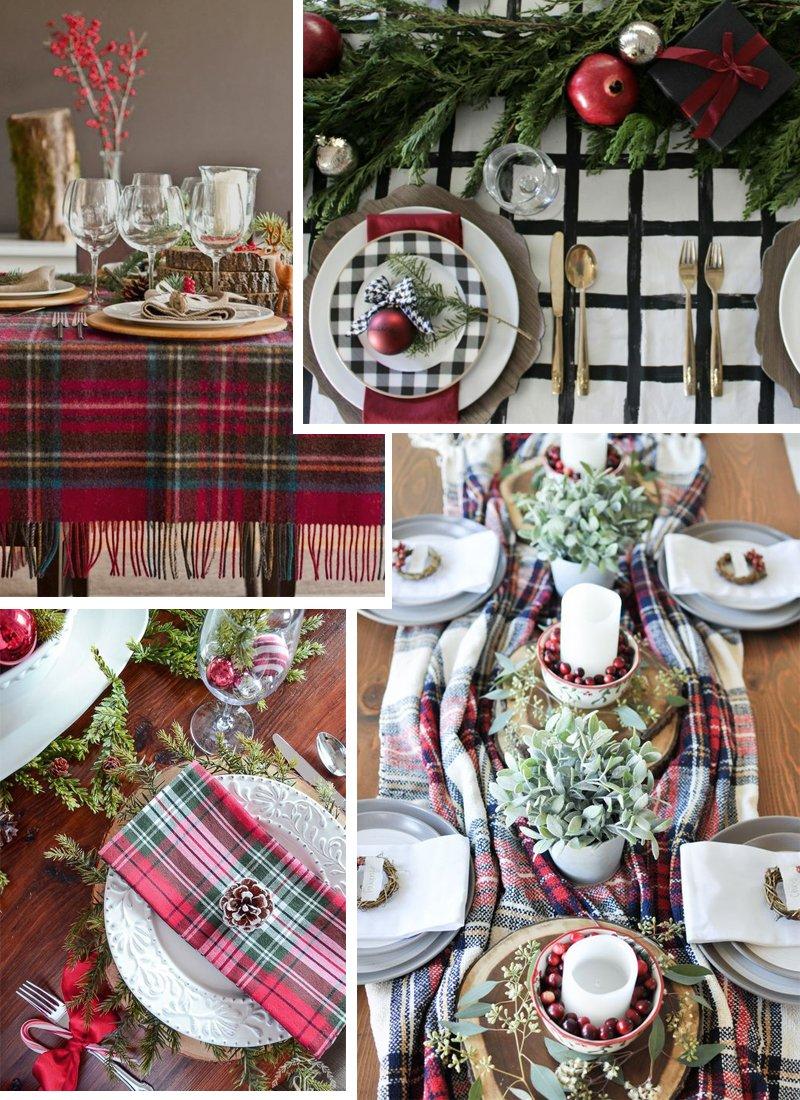 tavola Natale tartan